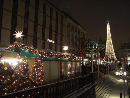 Вечер в рождественском Гамбурге
