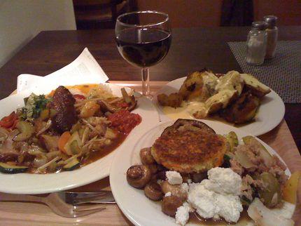 Скромный диетический ужин в Гамбурге