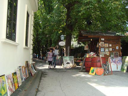 Арт-рынок в старом Загребе