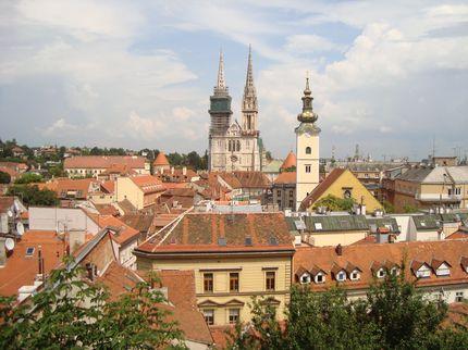 Вид на старый Загреб