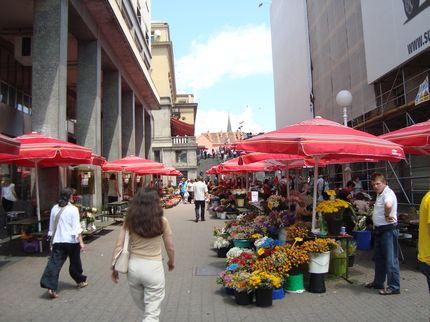 Рыночная улица Загреба