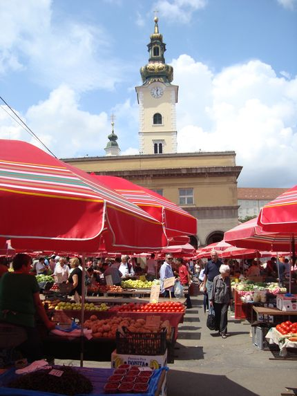 Рынок в Загребе