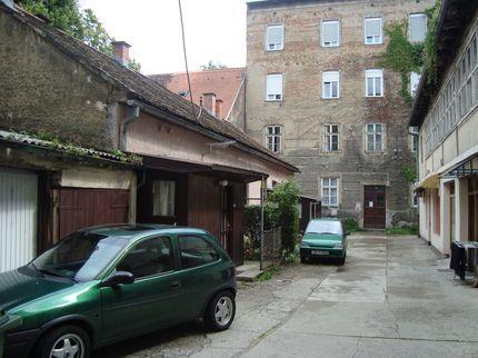 Дворик в старом Загребе