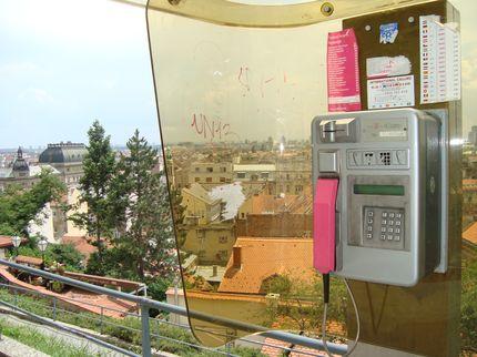 Телефон-автомат в Загребе