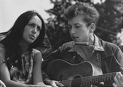 Боб Дилан и Джоан Баез, август 1963 года