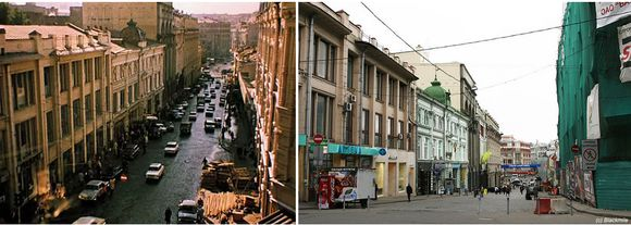 Кузнецкий мост - вчера и сегодня