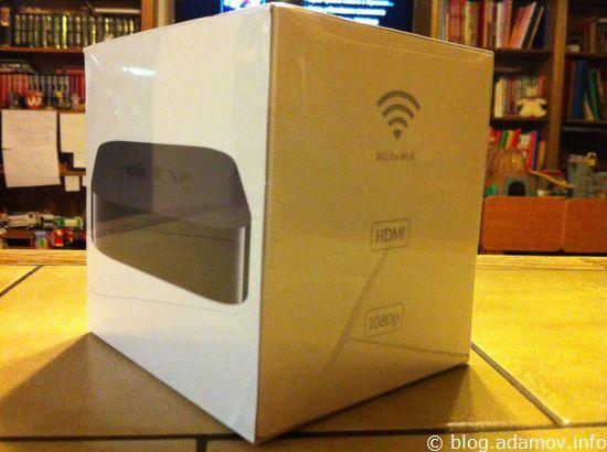 Коробка Apple TV3 кажется большой только на фотографии