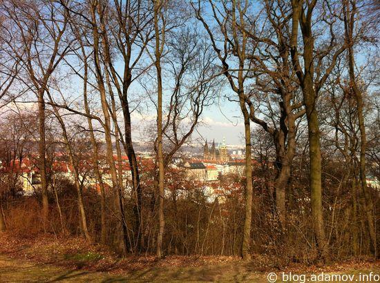 С Петршин открывается замечательный вид на Пражский Град